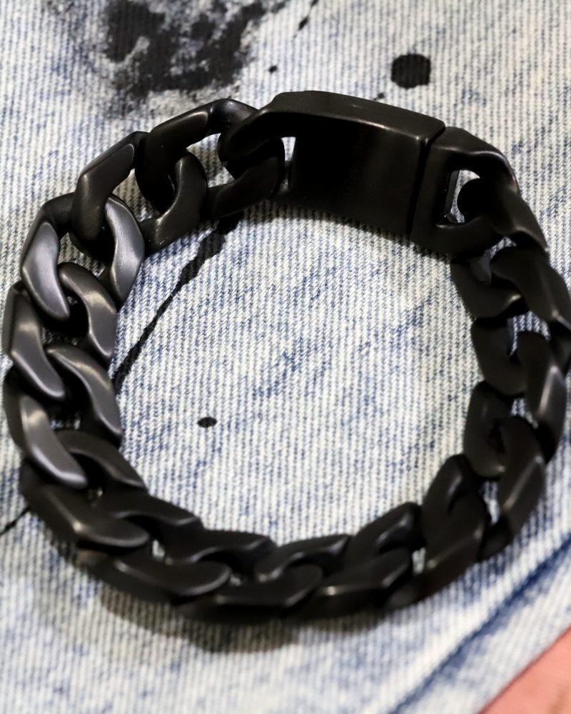 【KREAM】ブラックステンブレスレット24cmの画像3